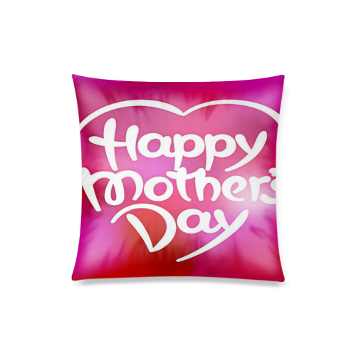"Colorful Mothers Day Custom Zippered Pillow Case 20""x20""(Twin Sides)"