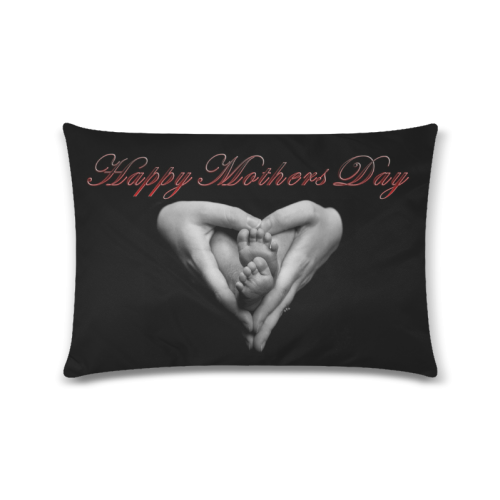 "happy mothers day Custom Zippered Pillow Case 16""x24""(Twin Sides)"
