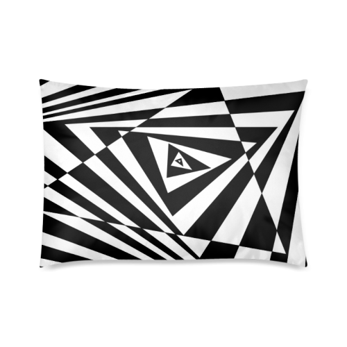 "Custom 3D Design Triangle Cool Space Custom Zippered Pillow Cases 20""x30""(Twin Sides)"