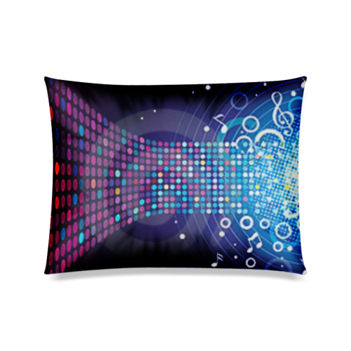 "Music Custom Zippered Pillow Case 20""x26""(Twin Sides)"