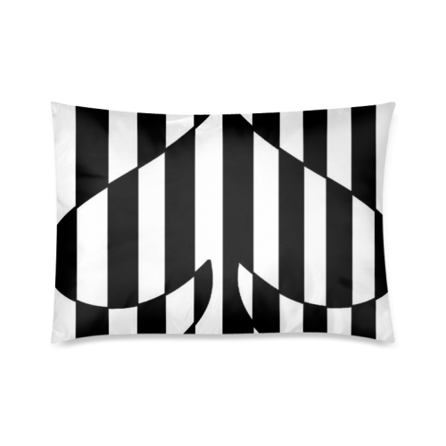 "Black And White Heart Design Custom Zippered Pillow Cases 20""x30""(Twin Sides)"