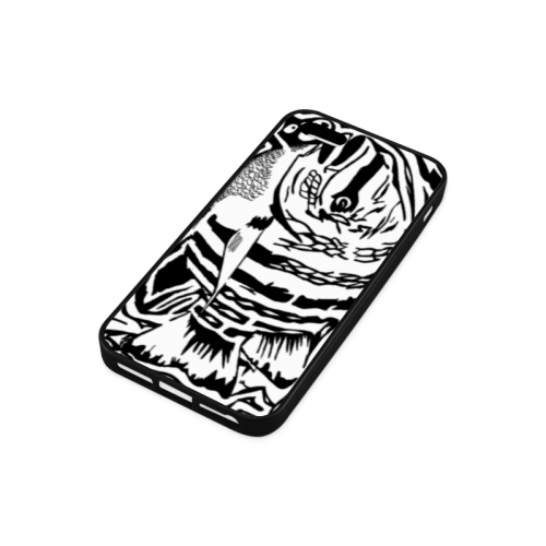Black And White Funny Design Fish Rubber Case for iPhone 5/5s