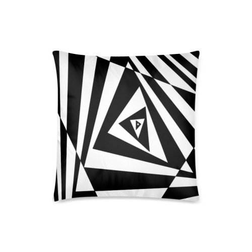 "Custom 3D Design Triangle Cool Space Custom Zippered Pillow Case 18""x18""(Twin Sides)"