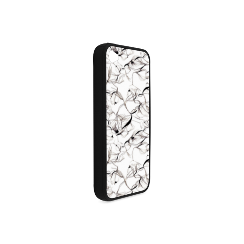 Abstact Pattern Design Custom Artsadd Stylish Rubber Case for iPhone 4/4s