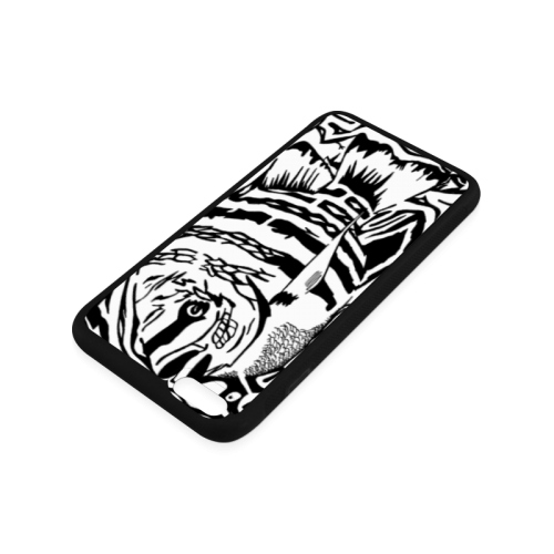 Black And White Funny Design Fish Rubber Case for iPhone 6/6s Plus