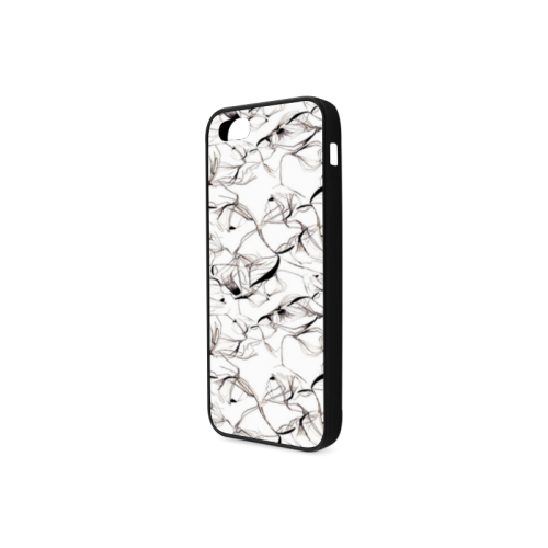 Abstact Pattern Design Custom Artsadd Stylish Rubber Case for iPhone 5/5s