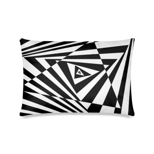"Custom 3D Design Triangle Cool Space Custom Zippered Pillow Cases 16""x24""(Twin Sides)"