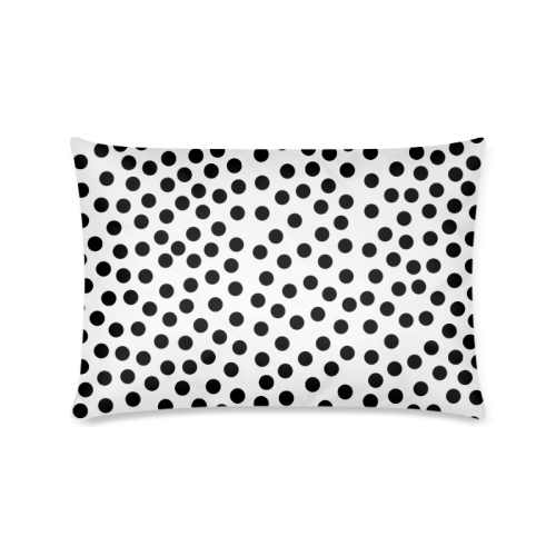 "Black Polka Dot Design Custom Zippered Pillow Cases 16""x24""(Twin Sides)"