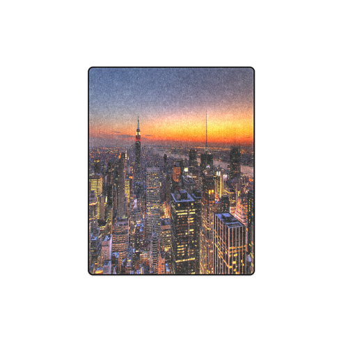 "New York City Night Blanket 40""x50"""
