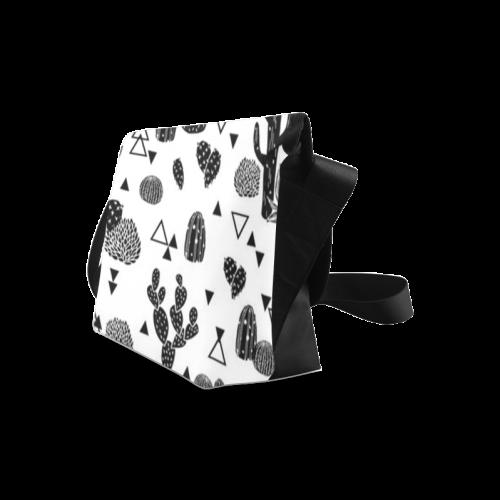 Custom Cute Cartoon Cactus Design Crossbody Bag (Model 1631)