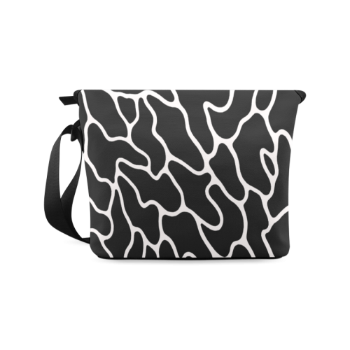 Black and White Leopard Patterns Stylish Design Crossbody Bag/Large (Model 1631)