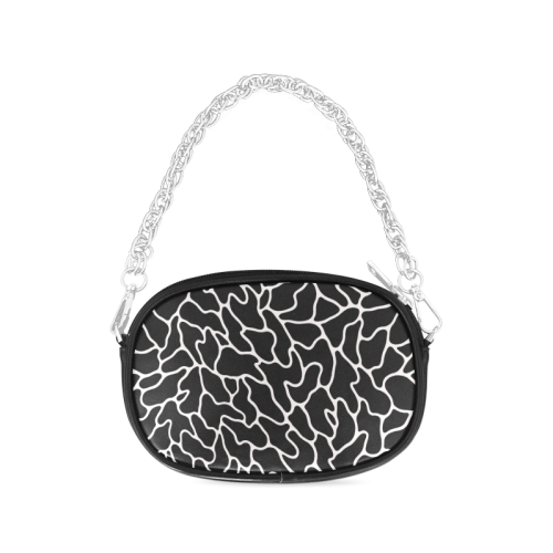 Black and White Leopard Patterns Stylish Design Chain Purse (Model 1626)
