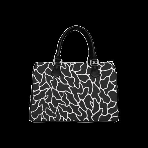 Black and White Leopard Patterns Stylish Design Boston Handbag (Model 1621)