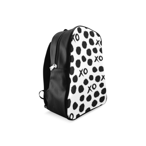 Custom Dot And XO Unique Design Stylish School Backpack/Large (Model 1601)
