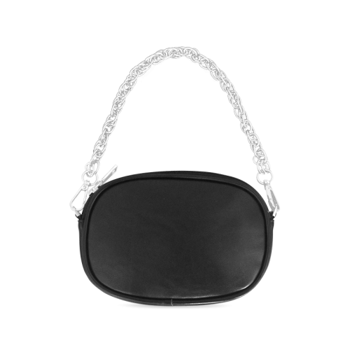 Black And White Heart Design Chain Purse (Model 1626)