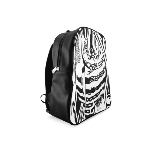 Black And White Funny Design Fish School Backpack/Large (Model 1601)