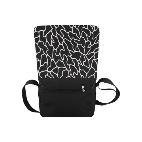Black and White Leopard Patterns Stylish Design Messenger Bag (Model 1628)
