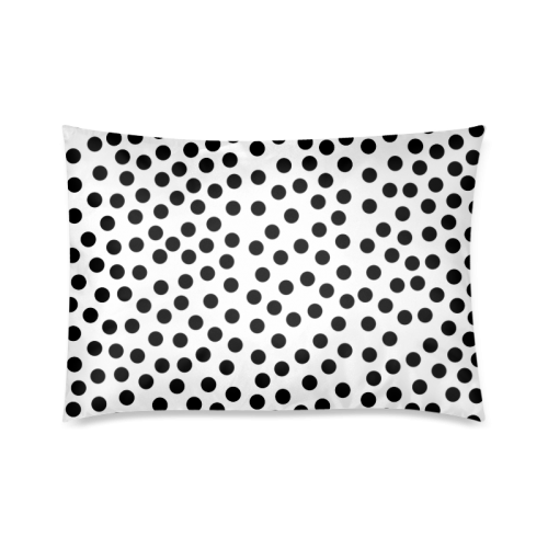 "Black Polka Dot Design Custom Zippered Pillow Cases 20""x30""(Twin Sides)"