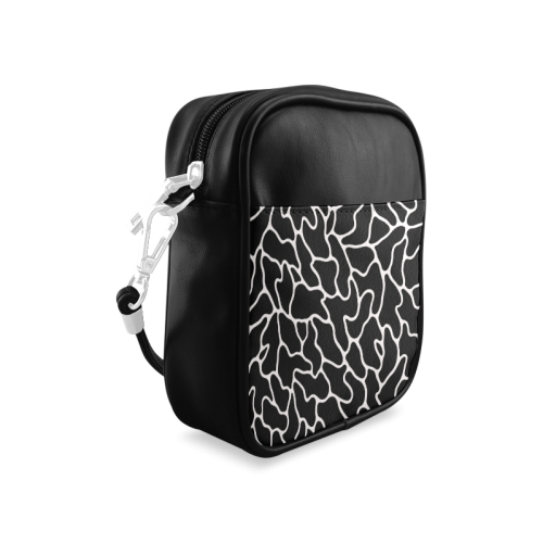 Black and White Leopard Patterns Stylish Design Sling Bag (Model 1627)