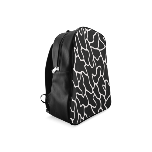 Black and White Leopard Patterns Stylish Design School Backpack/Large (Model 1601)