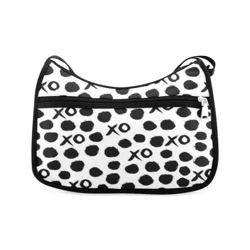 Custom Dot And XO Unique Design Stylish Crossbody Bags (Model 1616)