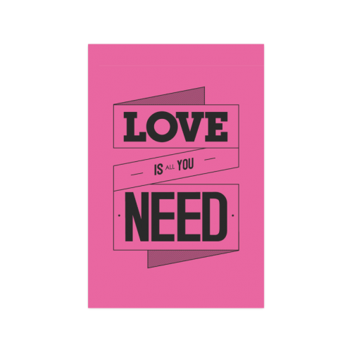 "Beatles Song Quotes All You Need Is Love Poster 20""x30"""