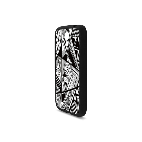 Black And White Vintage Pattern Design Rubber Case for Samsung Galaxy S4