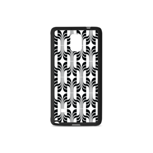 Customized Unique Flower Pattern Amazing Design Rubber Case for Samsung Galaxy Note 4