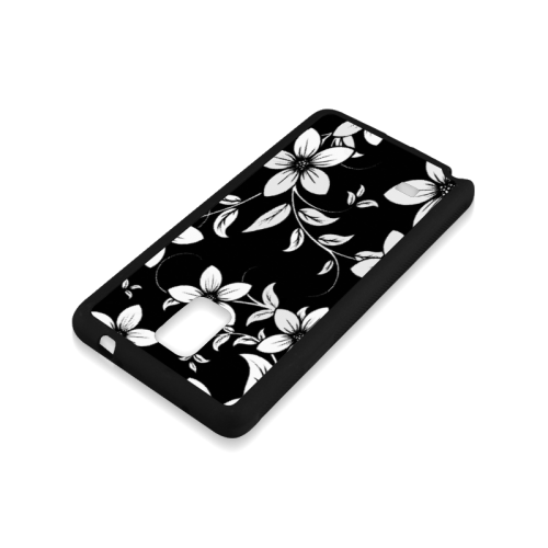 Black And White Designs Patterns Flower Rubber Case for Samsung Galaxy Note 4