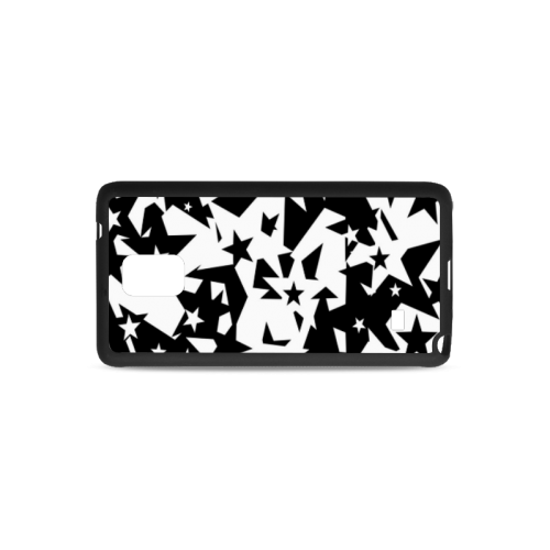 black_and_white_star_by_mythicdragon30 Rubber Case for Samsung Galaxy Note 4