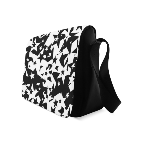black_and_white_star_by_mythicdragon30 Messenger Bag (Model 1628)