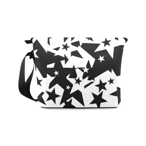 black_and_white_star_by_mythicdragon30 Crossbody Bag/Large (Model 1631)