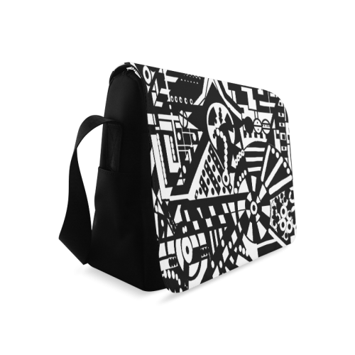 BLACKWHITESHARP Messenger Bag (Model 1628)