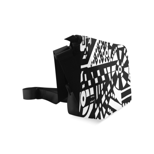 BLACKWHITESHARP Crossbody Bag/Large (Model 1631)