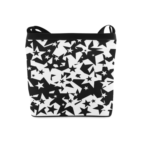 black_and_white_star_by_mythicdragon30 Crossbody Bags (Model 1613)