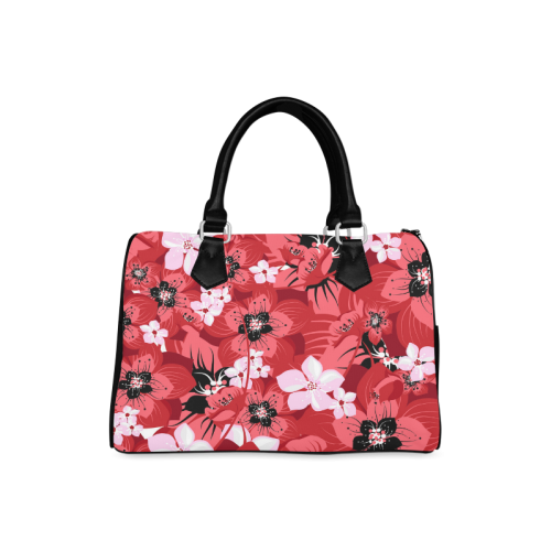 flower Boston Handbag (Model 1621)