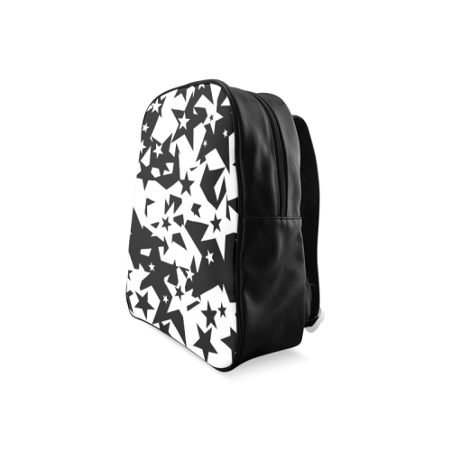 black_and_white_star_by_mythicdragon30 School Backpack/Large (Model 1601)
