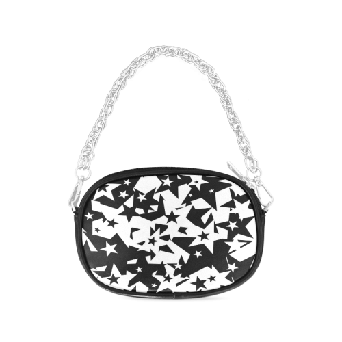 black_and_white_star_by_mythicdragon30 Chain Purse (Model 1626)