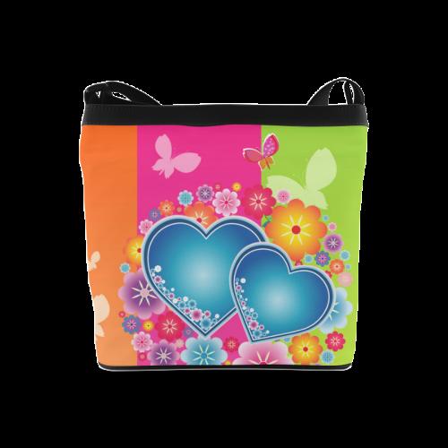 Blue heart sling bag Crossbody Bags (Model 1613)