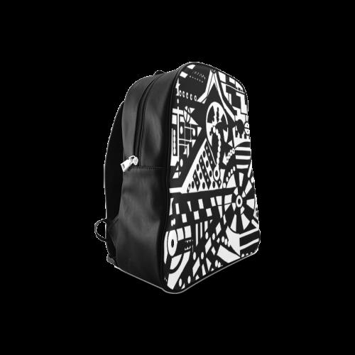 BLACKWHITESHARP School Backpack/Large (Model 1601)
