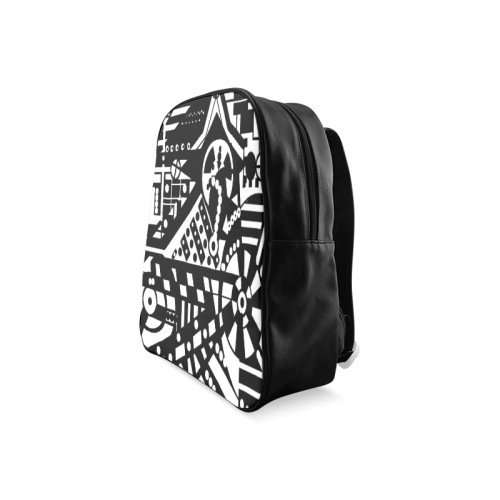 BLACKWHITESHARP School Backpack/Large (Model 1601)
