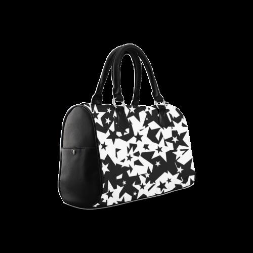 black_and_white_star_by_mythicdragon30 Boston Handbag (Model 1621)