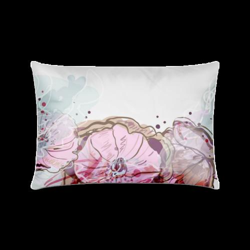 """flower Custom Zippered Pillow Case 16""""x24""""(Twin Sides)"""