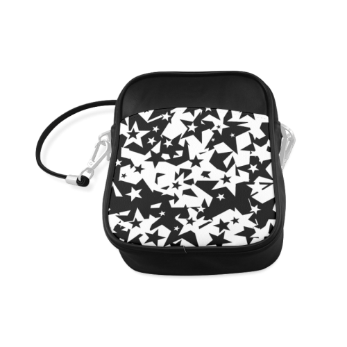 black_and_white_star_by_mythicdragon30 Sling Bag (Model 1627)
