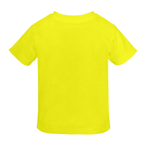 Whistling cartoon car. yellow t-shirt Sunny Youth T-shirt (Model T04)