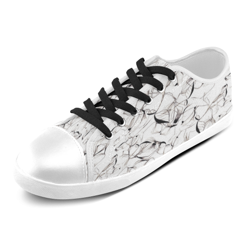 Abstact Pattern Design Custom Artsadd Stylish Women's Canvas Shoes (Model 016)