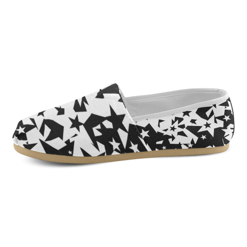 black_and_white_star_by_mythicdragon30 Women's Casual Shoes (Model 004)