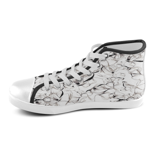 Abstact Pattern Design Custom Artsadd Stylish Women's High Top Canvas Shoes (Model 002)