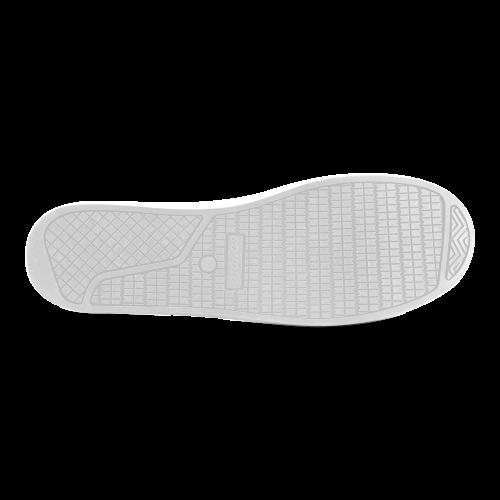 Black And White Vintage Pattern Design Women's Canvas Shoes (Model 016)