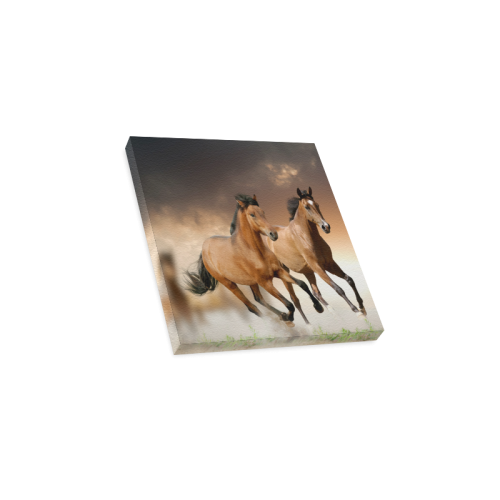 "Personlized Animal Series Design Wild Horse Runnin Canvas Print 12""x12"""